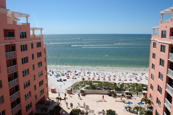 the view from the top floor of the Hyatt Resort in Clearwater Florida