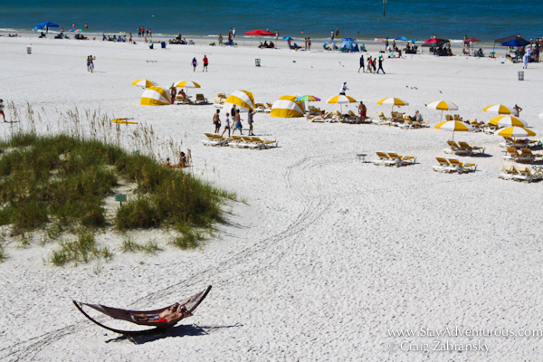 the view of clearwater beach, florida from the famous Sand Pearl Resort