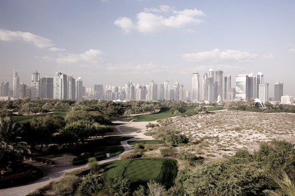 Dubai Golf, the 8th hole on the Majilis Course at Emirates Golf Club