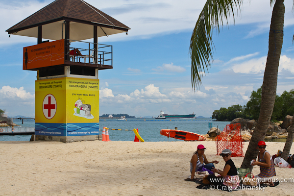 the lifeguard stand - photos from Siloso Beach, Sentosa, Singapore