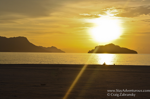 sunset at the Rhu Bar at the Four Seasons Langkawi