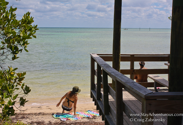 a look at the beach beside one of the many picnic tables at Anne's Beach, Florida Keys