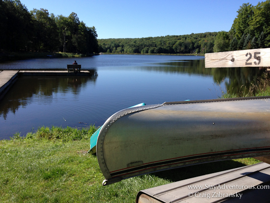 A relaxing view of Beaver Lake in the Lake Region of PA, close to Lake Wallenpaupack