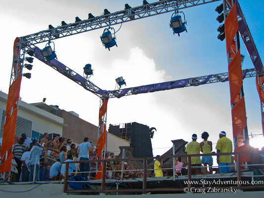 the MTV Stage iat Spring Break in Cancun, Mexico