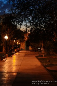 a stroll in Chihuahua City at sunset
