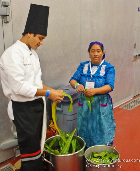 the grandmas, abuelas, working with the new young Mexican chefs to transfer knowledge and deliver delicious mexican cuisine
