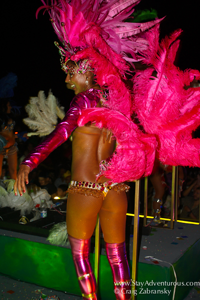 brazilain flair at the carnaval parade in mazatlan, mexico