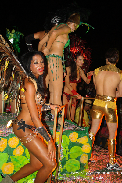 the brazilians entice at the caranval parade in mazatlan mexico