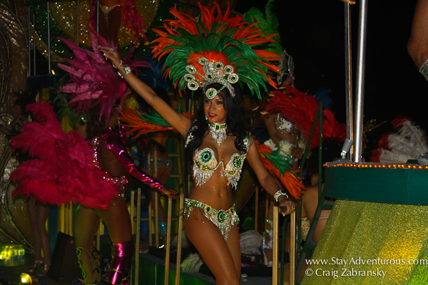 brazil represented at the carnaval parade in mazatlan, mexico