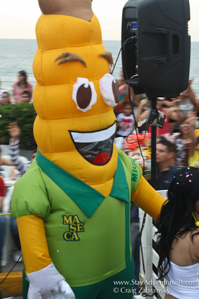 the maseca corn sponsor at the carnval parade in mazatlan mexico