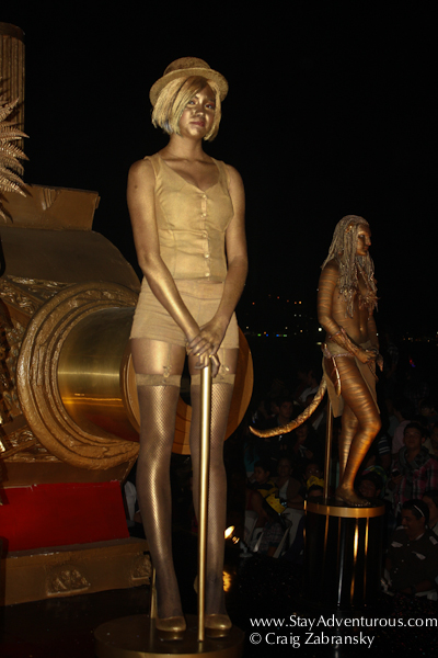 posing for the oscars at the carnaval parade on the malecon in mazatlan, sinaloa, mexico