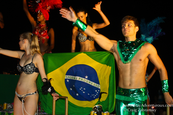 welcome Brazil to the Caranaval Parade in Mazatlan Mexico