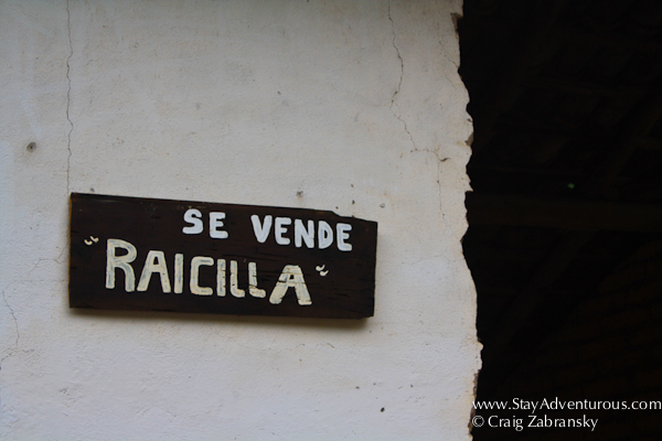 se vende raicilla sign in san sebastian del oeste, jalisco, mexico