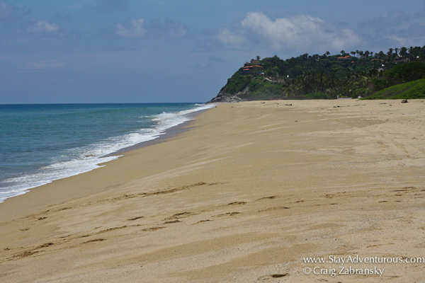 one view of the pristine beach of San Francisco or aka San Pancho on the Riviera Nayarit in Mexico.