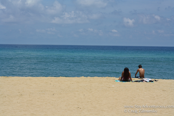 a couple on the pristine beach of San Francisco or aka San Pancho on the Riviera Nayarit in Mexico.