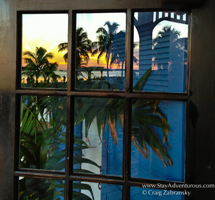 reflective sunset from pierre's in islamorada, florida... located in the upper florida keys