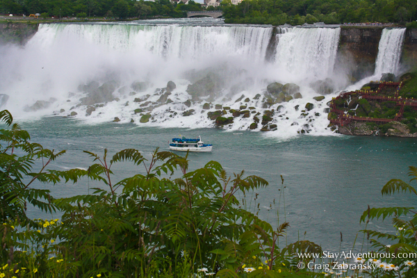 a view of the Niagara Falls from the Canada Side, the American Falls