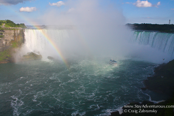 a view of the Niagara Falls from the Canada Side, the Canadian Falls, or the Horseshoe Falls