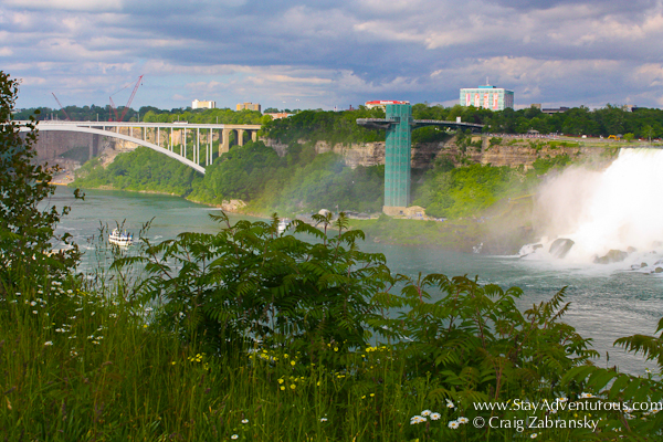 The bridge across the Countries, a view of the Niagara Falls from the Canada Side