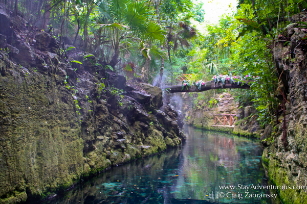 the paradise river inside Xcaret Park in the Riviera Maya of Mexico