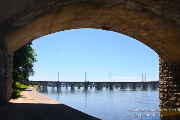 taken under a bridge in Dauphin County in Harrisburg, Pennsylvania