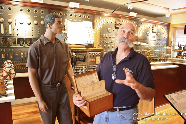 inside the museum with the best tour guide at the Pennsylvania Naitonal FireHouse Museum in Harrisburg, Pennsylvania