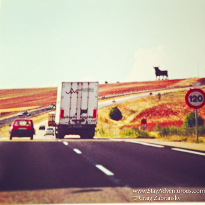 the classic open road and driving in spain...