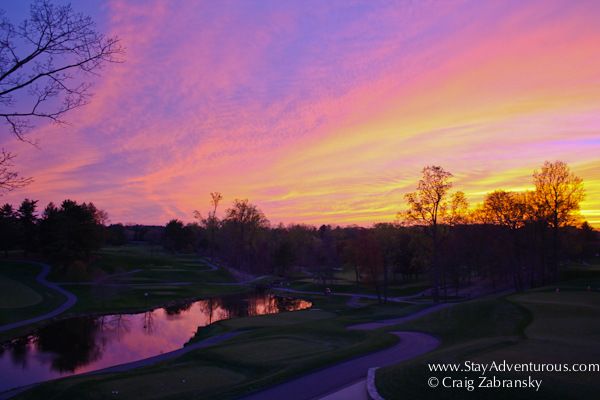 sunset from the congressional country club