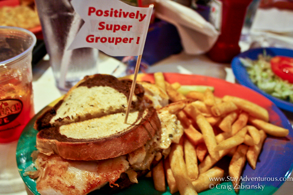 Frenchy's Super Grouper Fish Sandwich from Clearwater, Florida