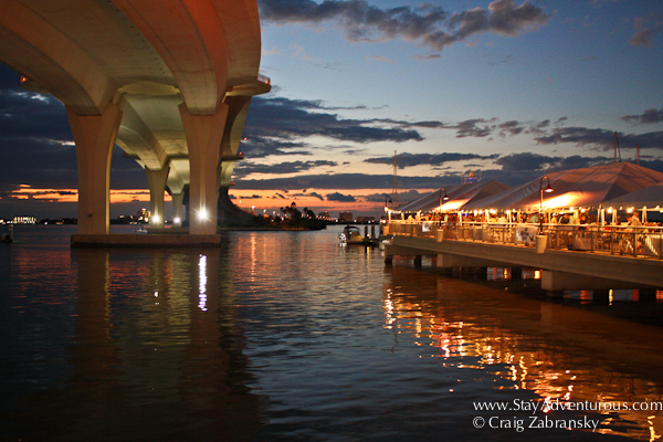 sunset clearwater causeway memorial bridge, clearwater florida, superboat naitonal championship,