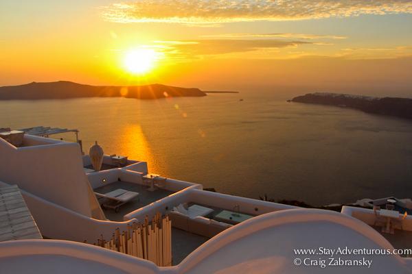 Santorini Sunset from Imerovigli