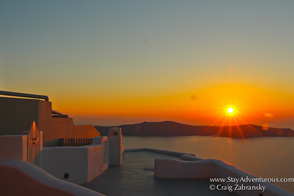 Santorini Sunset from Imerovigli
