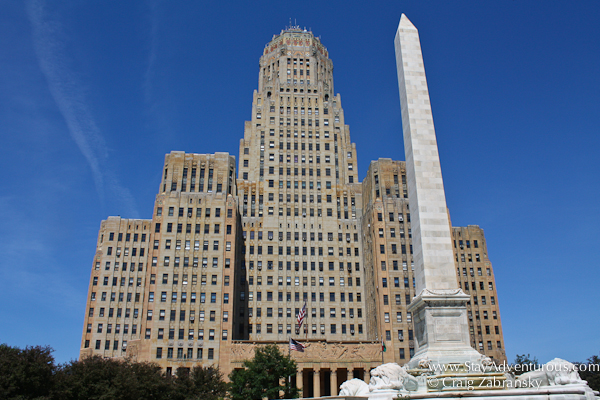 Art Deco designed City Hall as part of the Architecture of Buffalo, New York