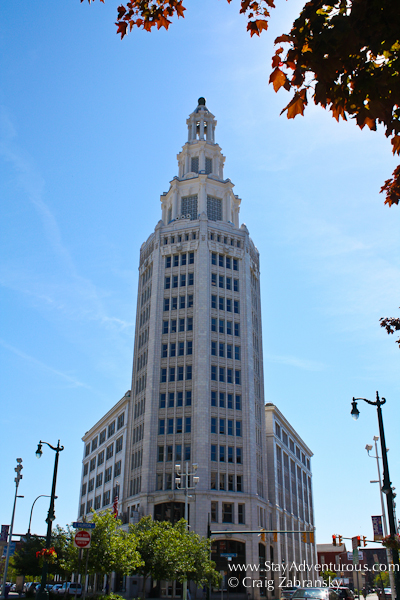 the Electric Tower as part of the Architecture of Buffalo, New York