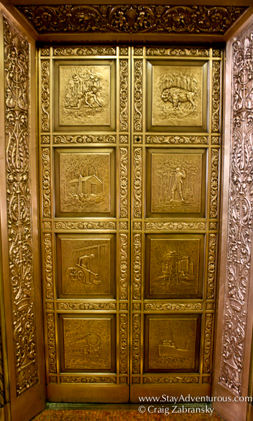 the elevator at the Ellicott Building as part of the Architecture in Buffalo, New York