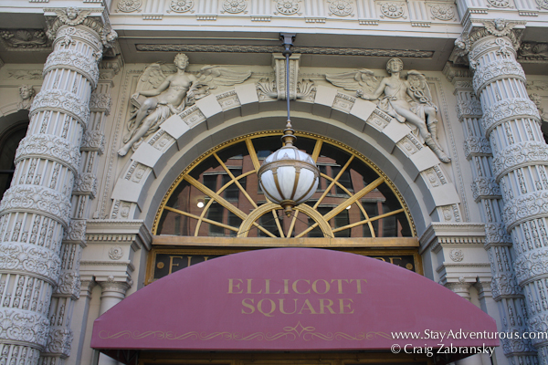 Ellicott Square Building Entrance part of the Architecture of Buffalo, New York