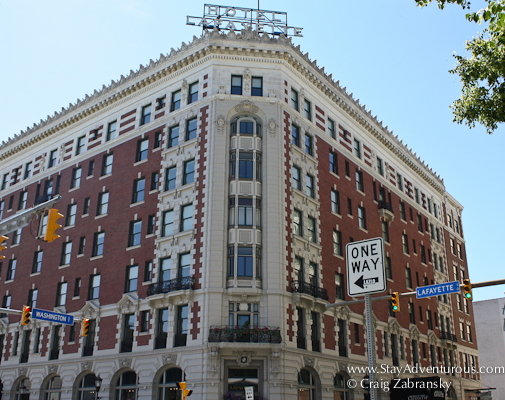 the restored Lafayette Hotel as part of the Architecture of Buffalo, New York