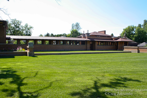 the Frank Lloyd Wright Martin House Pergola as part of the Architecture of Buffalo, New York