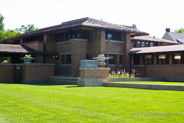 the Frank Lloyd Wright Martin House as part of the Architecture of Buffalo, New York