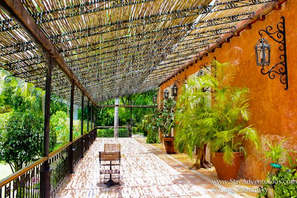 Hacienda Xcanatun in Merida, Yucatan - alongside the Chapel