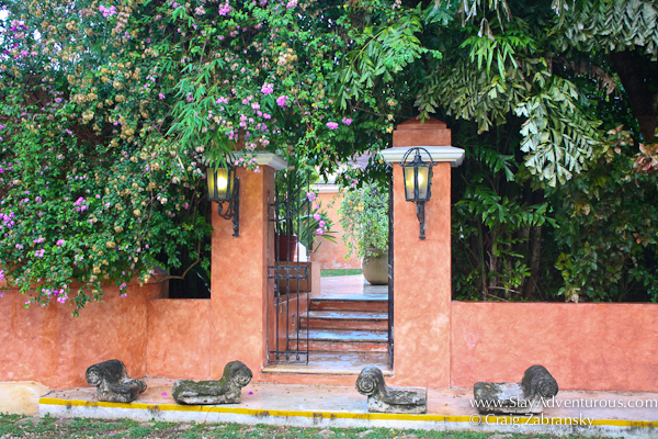 Hacienda Xcanatun in Merida, Yucatan, entrance to the pool
