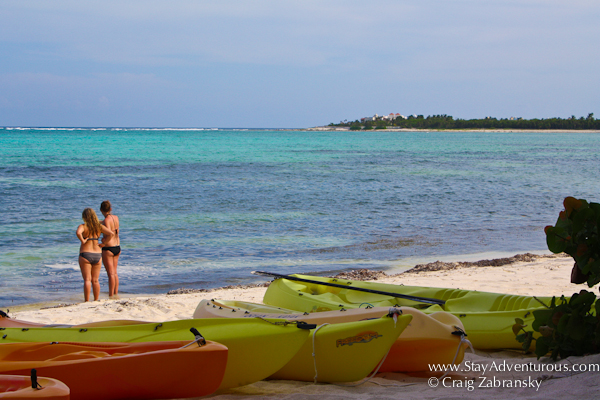 the kayaks from Casa de Corazon in Soliman Bay, Riviera Maya, Mexico