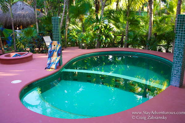 the pool at Casa de Corazon in Soliman Bay, Riviera Maya, Tulum, Mexico