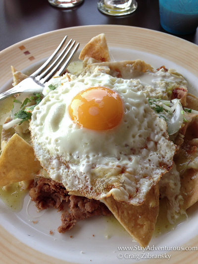 Chilaquiles Verde from Dreams Tulum, in Tulum, Riviera Maya, Mexico
