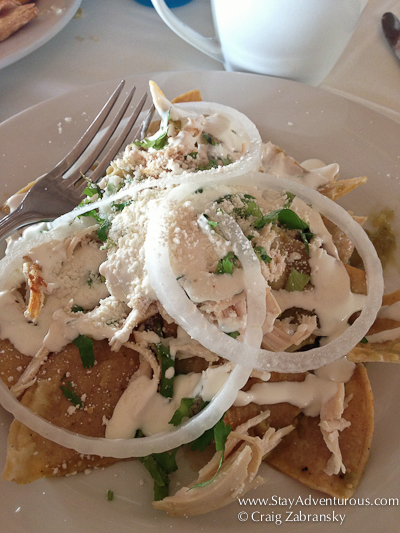 the Chilaquiles Verder from Petite Lafitte in Playa del Carmen, Riviera Maya, Mexico