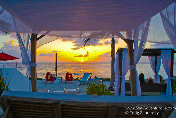 the sunset image from Hotel B in Cozumel, Riviera Maya, Mexico