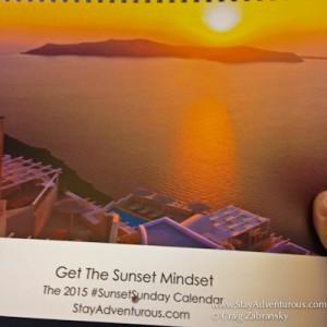 holding the 2015 sunset sunday calendar - get the sunset mindset