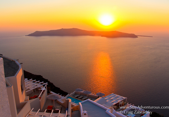 the sunset cover for the 2015 Sunset Sunday Calendar, - Get the Sunset Mindset- image from Santorini, Greece