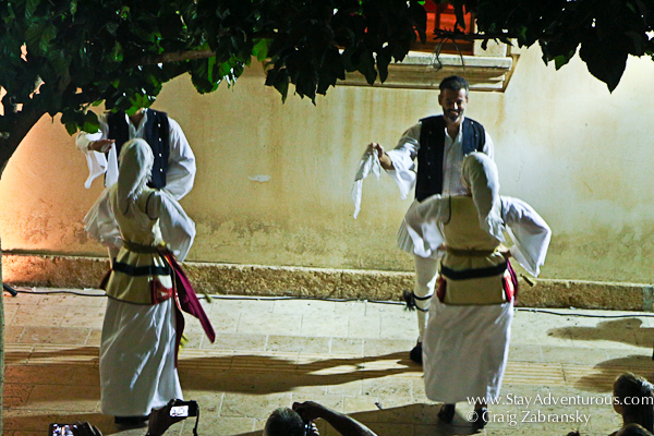 traditional greek dance in Malia, Crete