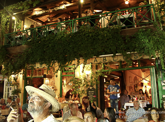 the cafes of old town in malia, crete